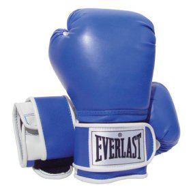 Happiness Habit Fight with Finesse Blue Boxing Gloves