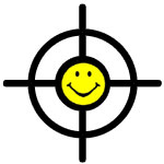 Aim Sight with Smiley Face Target